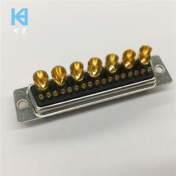 24W7 Male Mixed High Current D-SUB Connector 17 + 7 Pin Plug