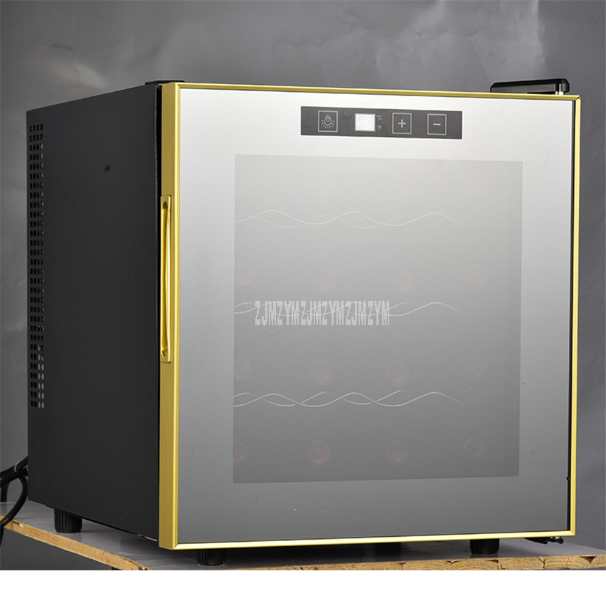 4 Layer 39L Electric Red Wine Cabinet 16 Bottle Constant Temperature Stainless Steel Home/Ice Bar Mini Wine Refrigerator TL-39