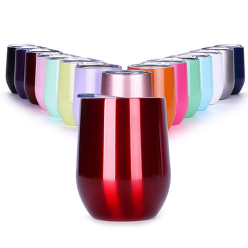 Stainless Steel Wine Tumbler With Double Wall Vacuum Insulation For Wine And Coffee