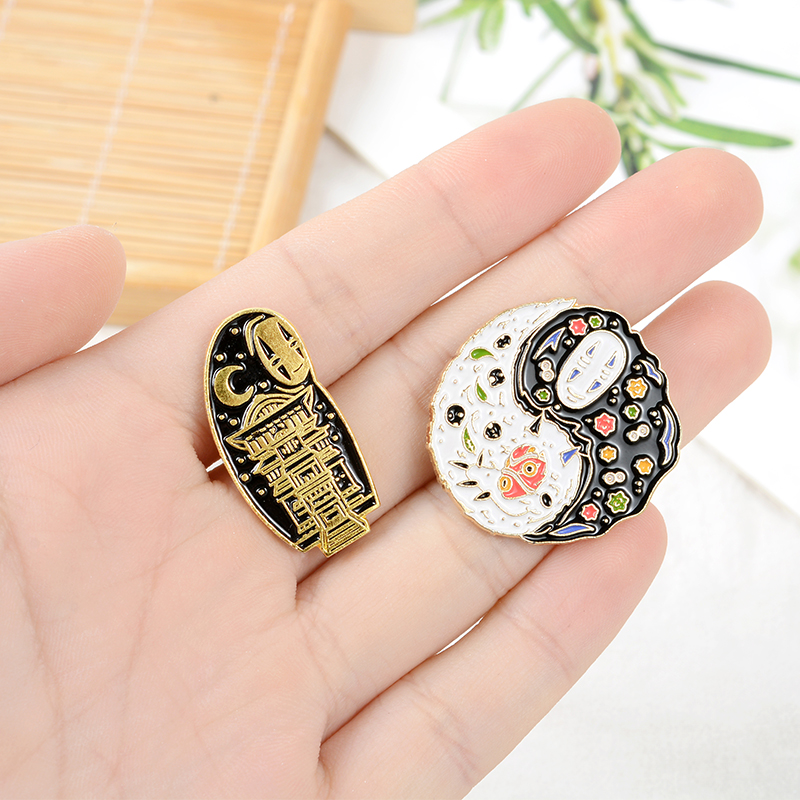 Cartoon Movie Enamel Pin Custom Japanese Anime Brooches Taichi Badge for Bag Lapel Pin Buckle Jewelry Gift for Kids Friends 3