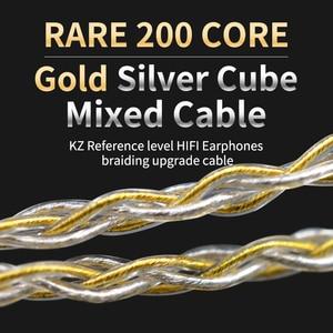 Image 5 - Kz 8 núcleo ouro prata misturado cabo com 2pin/mmcx conector uso para kz zs10 pro/zsn/zst/es4/zs10/as10/ba10/zsn pro
