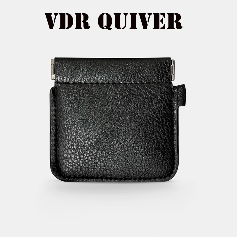 VDR Quiver Plus Magic Tricks Magia Coin Purse Leather Magician Close Up Street Illusions Gimmick Prop Appear Vanish Magica