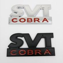1PCS 3D Metal SVT COBRA logo sticker Rear Badge Tailgate Emblem Car Sticker For Ford Mustang Shelby Raptor Styling