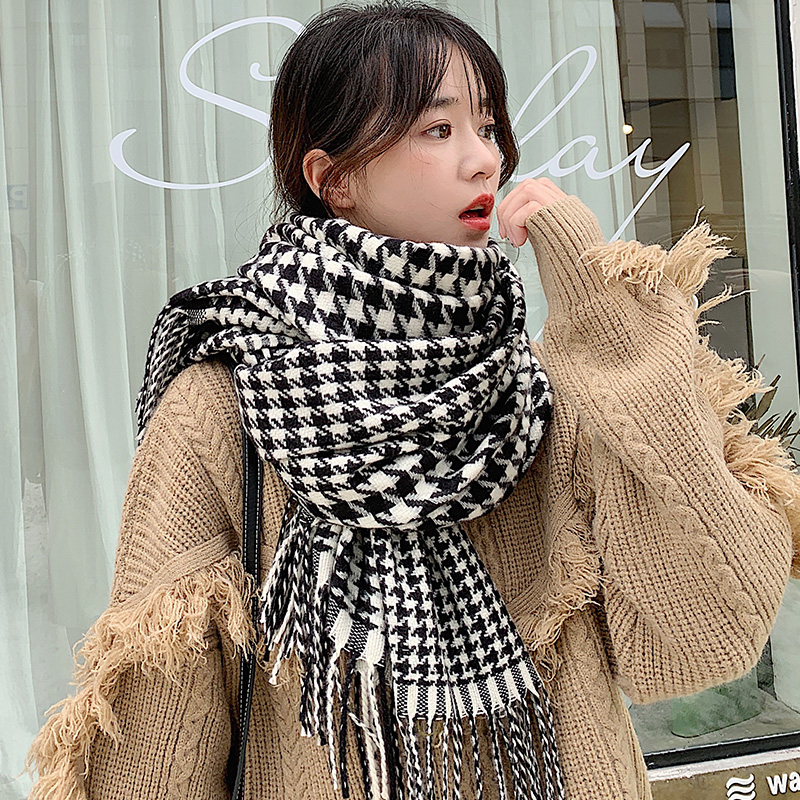 Brand Plaid Scarf  Women Thickened Warm Keeping Student Luxury Women Fashion Leisure Long Cape Autumn Winter Dual Use Gifts Love