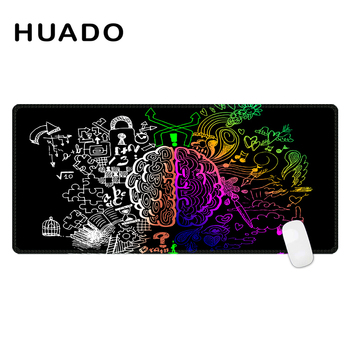 Custom Large Game Mouse Pad 900*400 mouse mat left and right brain design high quality DIY picture with edge locking цена 2017