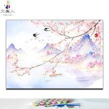 Раскраска по номерам «сделай сам» традиционный китайский стиль