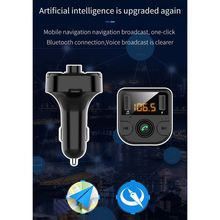 Dual USB Car Charger With FM Transmitter Bluetooth Hands-free Modulator Phone