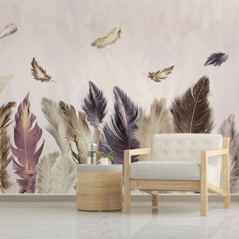 2020 Youe Shone 3D Wallpaper Photo Mural Modern Minimalist Golden Feather Background Decoration Wallpaper papel de parede 3d