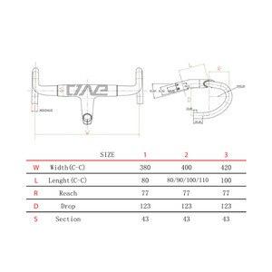 Image 3 - Wiel Manillar de bicicleta de carretera de fibra de carbono, ligero, 380/400/420/28,6mm, manillar integrado para bicicleta de carreras