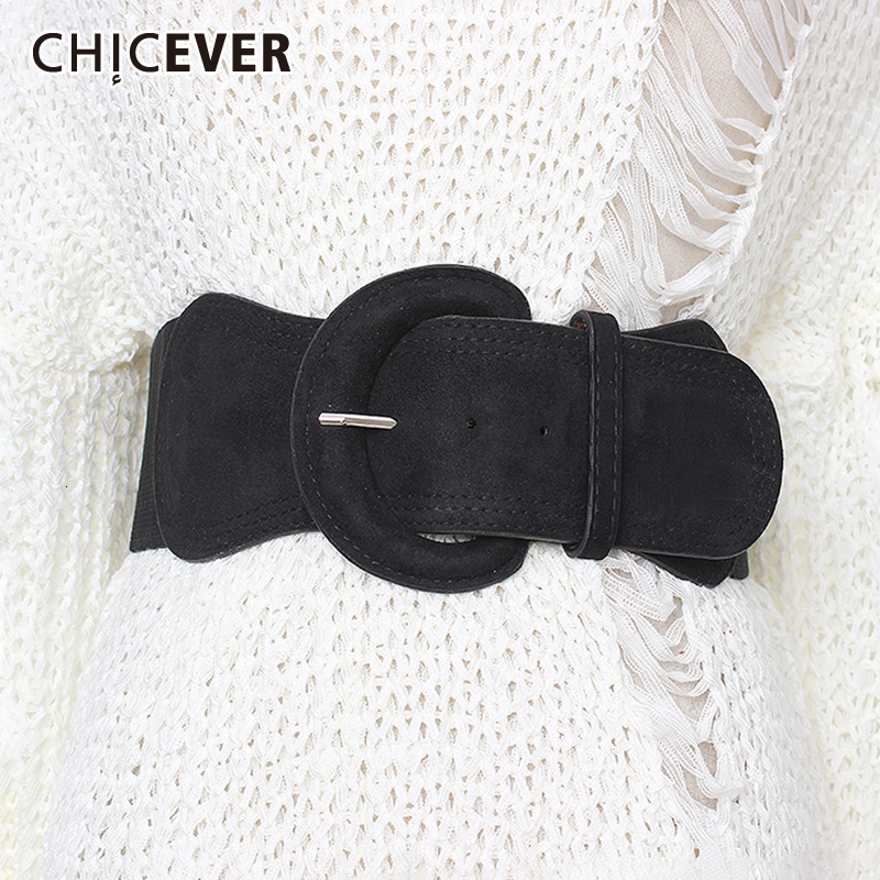 CHICEVER Summer Elegant Belt For Women High Waist Slim Tunic Solid Dresses Accessories Elastic Belts Female 2019 Fashion New