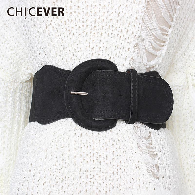 CHICEVER Summer Elegant Belt For Women High Waist Slim Tunic Solid Dresses Accessories Elastic Belts Female 2020 Fashion New