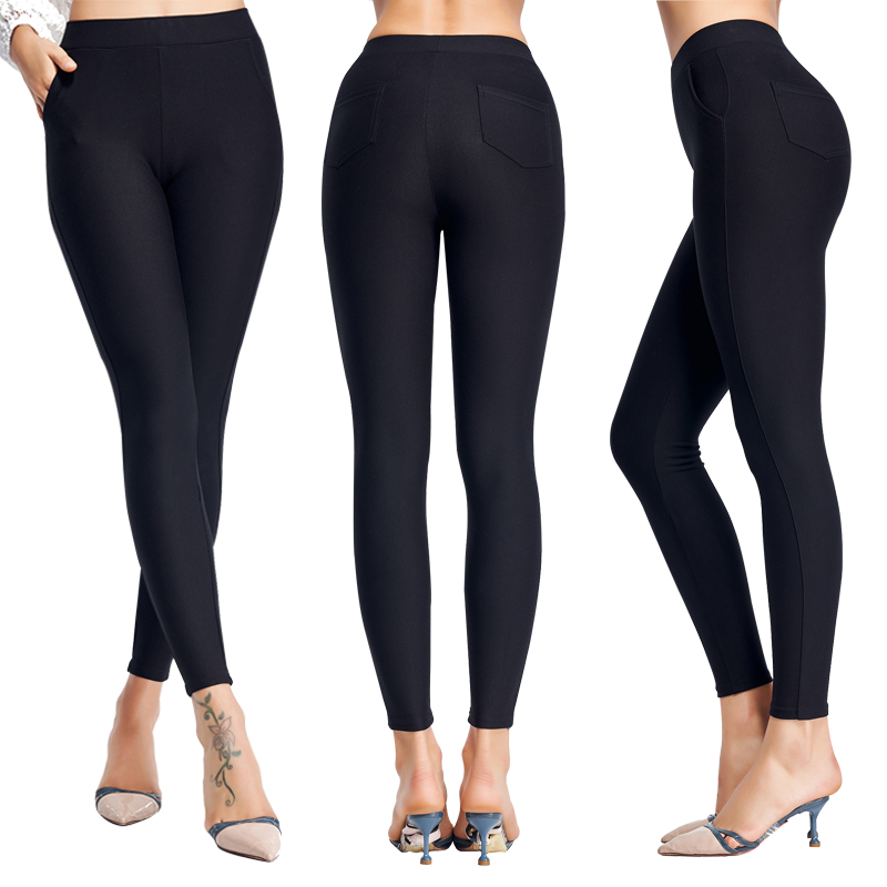 fashion High Elastic Black Casual office Suit Long Trousers women high waist Stretch Tight pencil ladies Skinny pants
