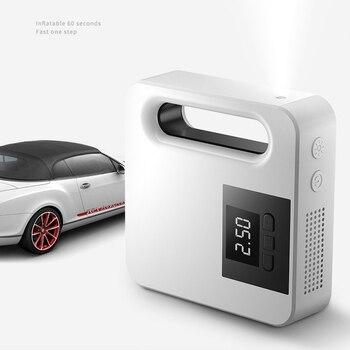 Bomba de aire para coche, fuente de alimentación con pantalla digital para encendedor de cigarrillos, bomba de inflado portátil para coche de 12 V, Inflador de neumáticos con luz LED