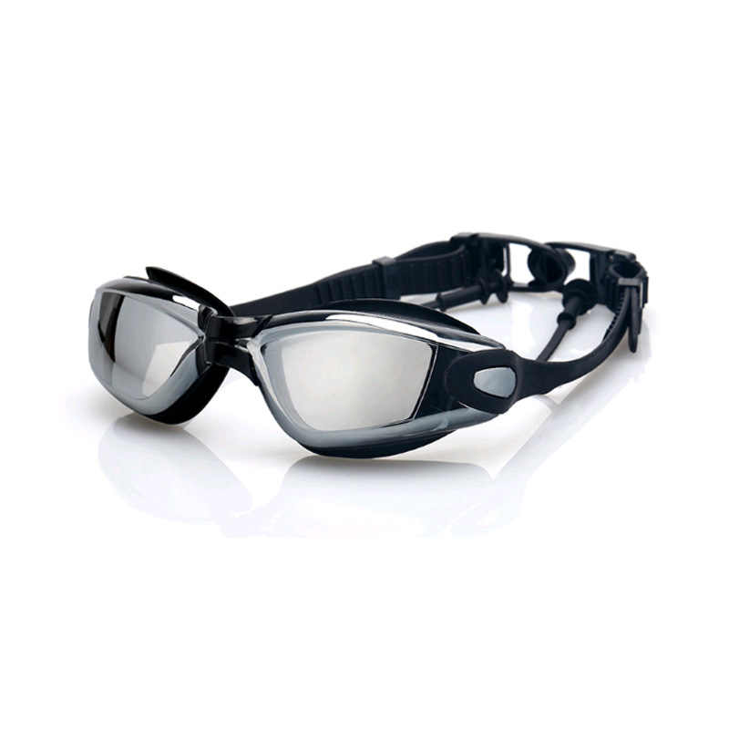 1 paar Galvaniseren UV Waterdicht Anti fog Badmode Brillen Zwemmen Duiken Water Glazen Verstelbare Zwembril Voor Volwassenen