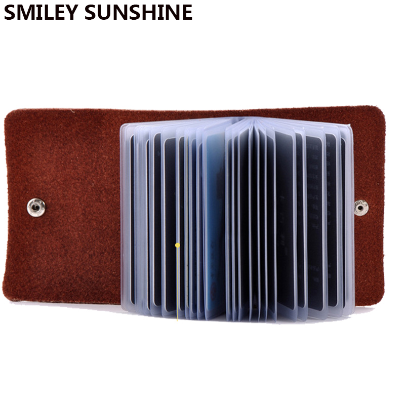2020 Genuine Leather Card Holder Business Bank Credit Card & Id Holder Card Wallet Bag Cardholder Case For Men Women Porte Carte