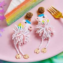 Boho Flamingo Drop Earring for Women Ethnic Crab Earrings Girls 2019 Statement Fashion ice cream Ear Rings Jewelry New Travel(China)
