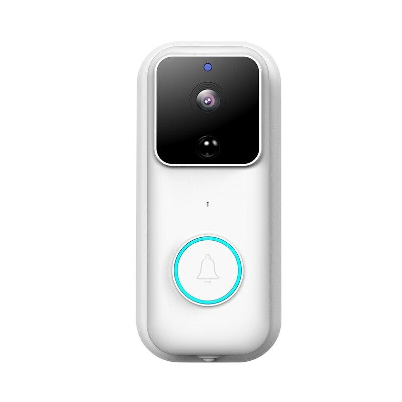 ABKT-Smart Doorbell Camera 1080 Hd Wireless Wifi Doorbell Two Way Audio Intercom Ip Door Bell Home Security App Control B60