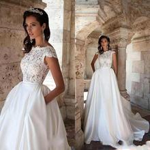 Великолепное ТРАПЕЦИЕВИДНОЕ свадебное платье с отстегивающимся