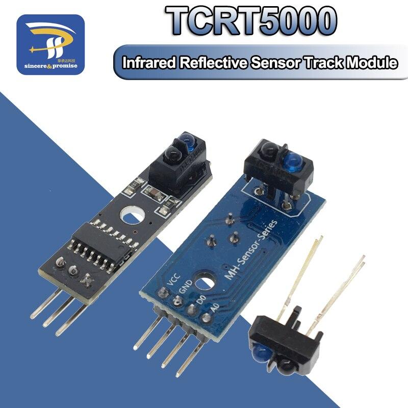 Tcrt5000 sensor reflexivo infravermelho ir, interruptor fotoelétrico barreira linha módulo de pista para arduino placa tríodo de diodo 3.3v