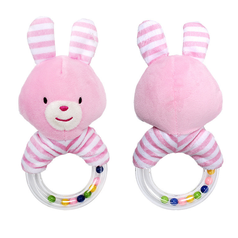 2020 Cartoon Animal Baby Rattle Toys Rabbit Plush Baby Cartoon  Rabbit Hand Bells Bed Educational Gift Toys For 0-12 Months Baby