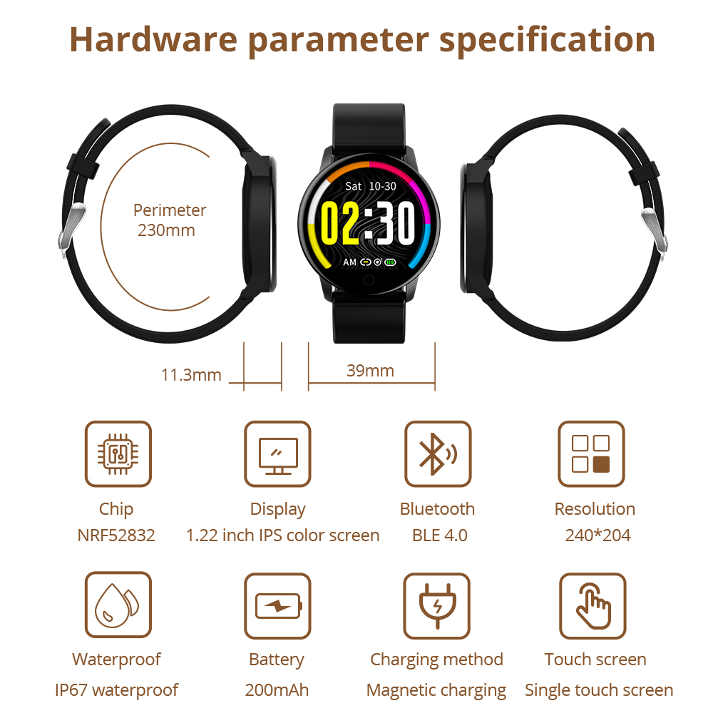 Makibes T5 PRO Advanced Milanese magnetic Fitness Tracker Smart Watch Blood Pressure Monitor Smartwatch Fashion PK Q8 Bracelet