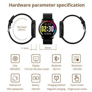 Image 4 - Makibes T5 PRO 고급 밀라노 마그네틱 피트니스 트래커 스마트 시계 혈압 모니터 Smartwatch Fashion PK Q8 Bracelet