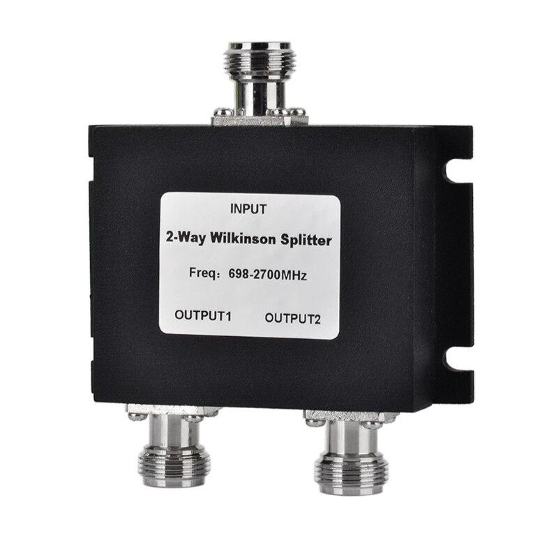 2 Way N Мощность сплиттер микрополосковых 698-2700 МГц N женский Мощность делитель сигнала кабель VHF UHF сплиттер Быстрая доставка