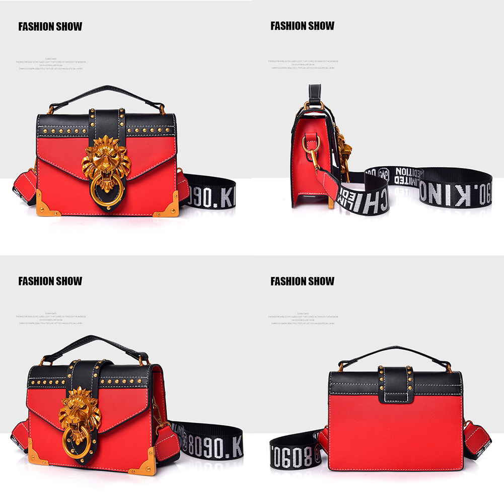 H6d011491b6af4a3e9f2e9a79a1eea8eaz - Fashion Metal Lion Head Mini Small Square Pack Shoulder Bag Crossbody Package Clutch Women  Wallet Female Handbags