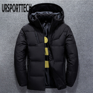 Image 2 - 2019 New High Quality White Duck Thick Down Jacket Men Coat Snow Parkas Male Warm Brand Clothing Winter Down Jacket Outerwear