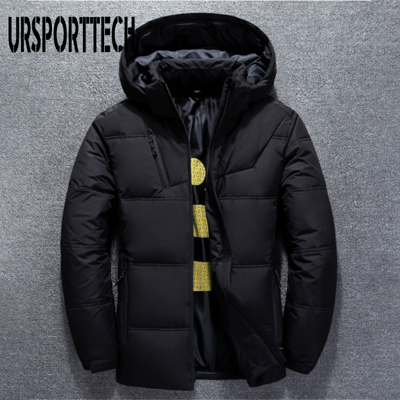 2019 Winter Jacket Mens High Quality Thermal Thick Coat Snow Red Black Parka Male Warm Outwear White Duck Down Jacket Men