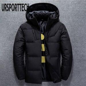 Image 2 - 2019 새로운 고품질 흰색 오리 두꺼운 자켓 남성 코트 스노우 파커 남성 따뜻한 브랜드 의류 겨울 자켓 겉옷