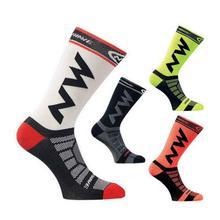 Для мужчин Для женщин спортивные носки дышащие быстросохнущие велосипедные носки для занятий Баскетболом, футболом нейлон езда на велосипеде