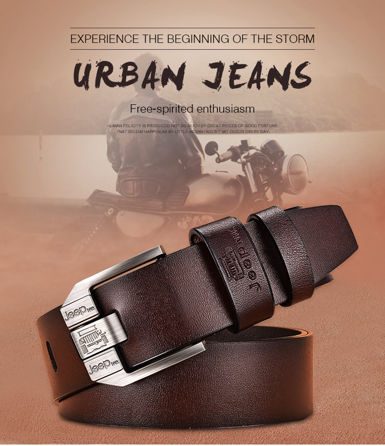 H6d0131ceb32c4254ba7127c316291d1bf - JIFANPAUL Men's genuine leather luxury brand belt high quality alloy pin buckle men's business retro youth with jeans new belt