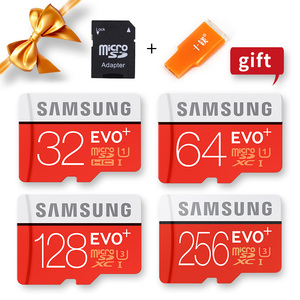 Image 4 - SAMSUNG 100% Original Micro sd Card 256G 128GB 64GB 100Mb/s Class10 U3 U1 SDXC Grade EVO+ flash card Memory Microsd TF/SD Cards