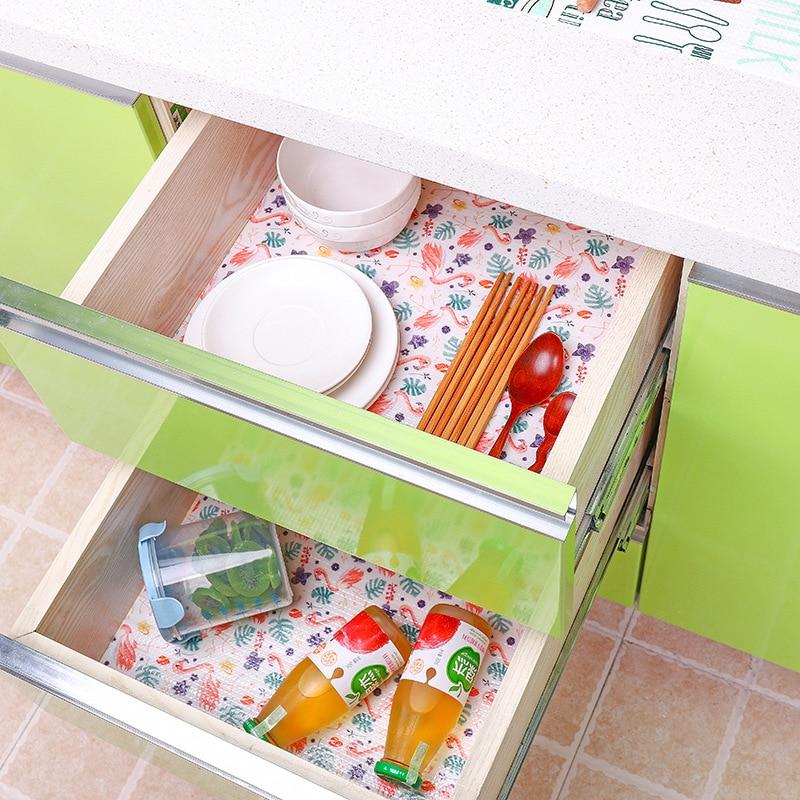 Купить 1 рулон ящика кухонный стикер коврик для буфета водонепроницаемый