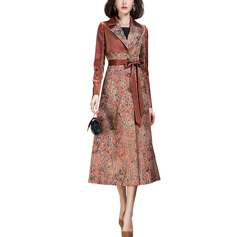 2021 Spring Latest Casual High Quality Luxury Floral Long Trench Coat for Ladies|Trench| - AliExpress
