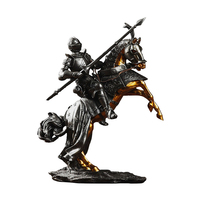 Exquisite Resin knight Sculpture For Home Decoration Accessories Ancient Rome Armor Warrior Figurines Miniaturfe Model Boys Gift