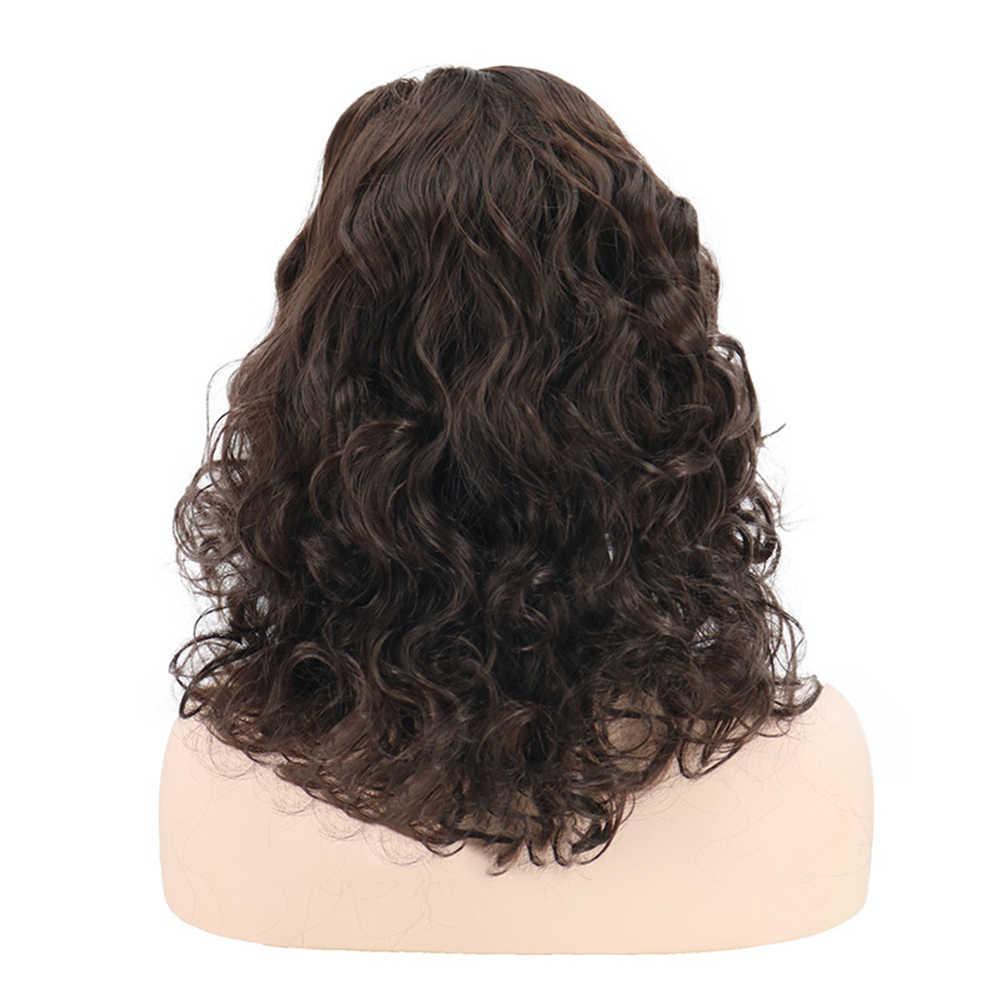 42cm nueva moda mujer resistente al calor pelo sintético Rosa Net Naturals África rizado peluca señora elegante pelo Artificial encantador Wi