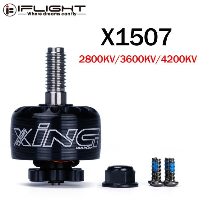 IFlight XING X1507 1507 2800KV 3600KV 4200KV 2 6S FPV NextGen Unibell מנוע עם 5mm טיטניום סגסוגת פיר עבור FPV מירוץ Drone