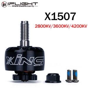 Image 1 - IFlight XING X1507 1507 2800KV 3600KV 4200KV 2 6S FPV NextGen Unibell Motor Mit 5mm Titan Legierung welle für FPV Racing Drone