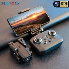 Mktoys 4k zangão mini com câmera hd altitude hold rc helicóptero dobrável quadrocopter dron presente para crianças brinquedos para meninos vs LS-XT6