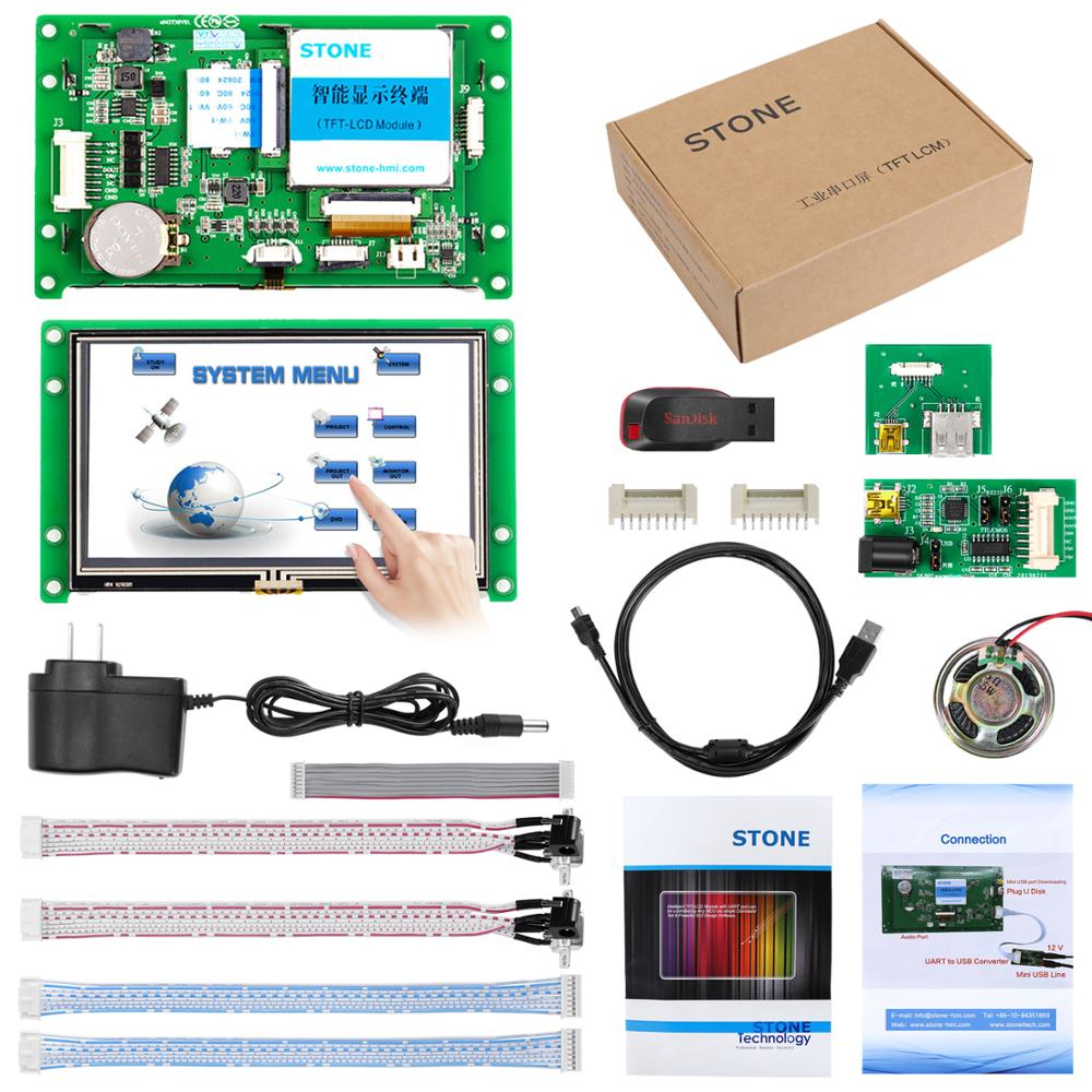 4.3 Inch Automatization Controller HMI TFT LCD Monitor With RS232 Interface