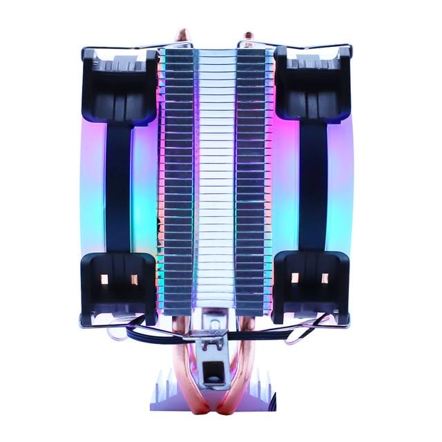 Efficient Cooling CPU Cooler Fan 3pin For Intel LGA 1150 1151 1155 1156 775 1200 AMD AM3 AM4 Quiet Ventilador Silent Radiator 2
