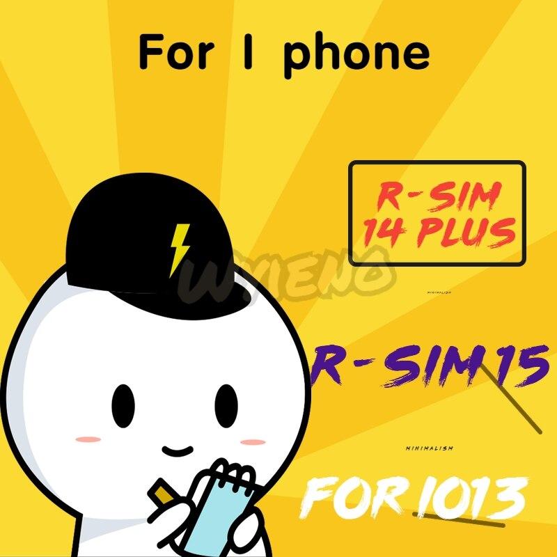Wyieno For IPhone 5 5S 5C 6 6S 7 8 Plus X XR XS Max RSIM14 V18 R-SIM 14+ Plus / Rsim15+ R-sim 15 SIM Card Tool +tracking