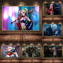 2015 special offer direct selling freeshipping no 50x50 oil square cuadros wall pictures for living room quadros high quality 35 HD Suicide Squad Harley Quinn Oil Painting On Canvas Posters Prints Cuadros Wall Art Pictures For Living Room No Frame