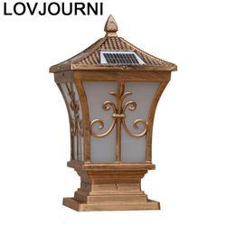 Foco lampa zewnętrzna Post brama Iluminador krajobraz słoneczny reflektor Terraza Y Jardin Decoracion oświetlenie zewnętrzne filar światło Zewnętrzne oświetlenie    -
