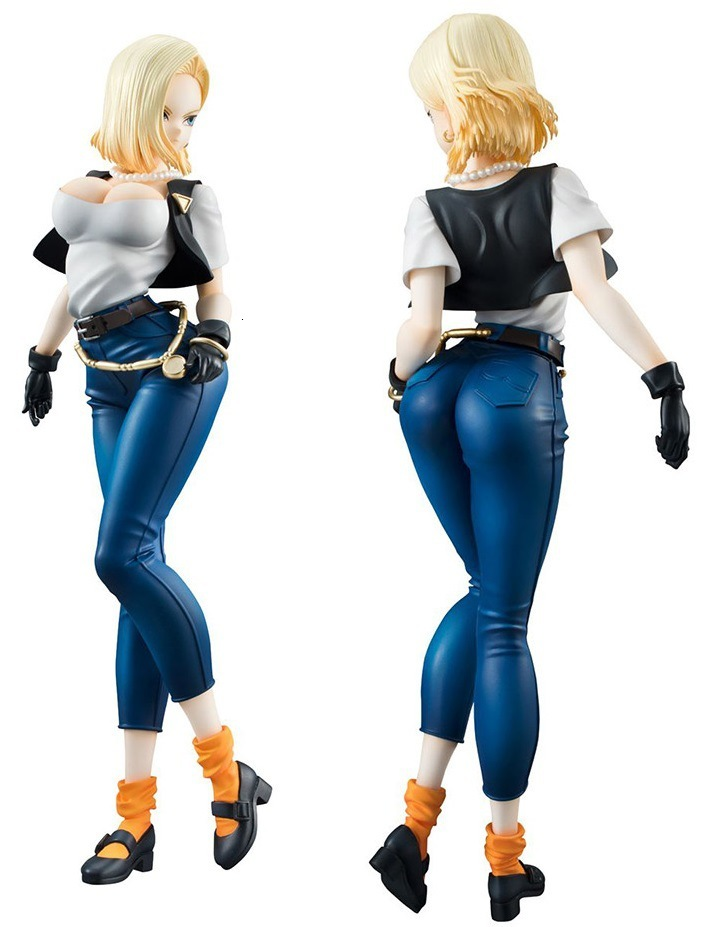 NEW hot 20cm Dragon ball <font><b>sexy</b></font> <font><b>Android</b></font> <font><b>18</b></font> lazuli Action <font><b>figure</b></font> toys <font><b>collection</b></font> doll Christmas gift with box Second generation image