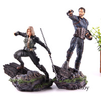 Marvel Avengers Action Figure Iron Studios Statue Captian America Black Widow 1/10 Scale Figure PVC Collectible Model Toy