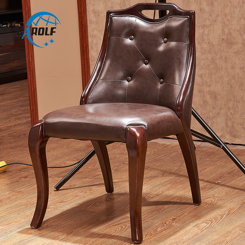 Good Price America Style Genuine Leather Chair Solid Wood Dining Chairs Dining Chairs Aliexpress