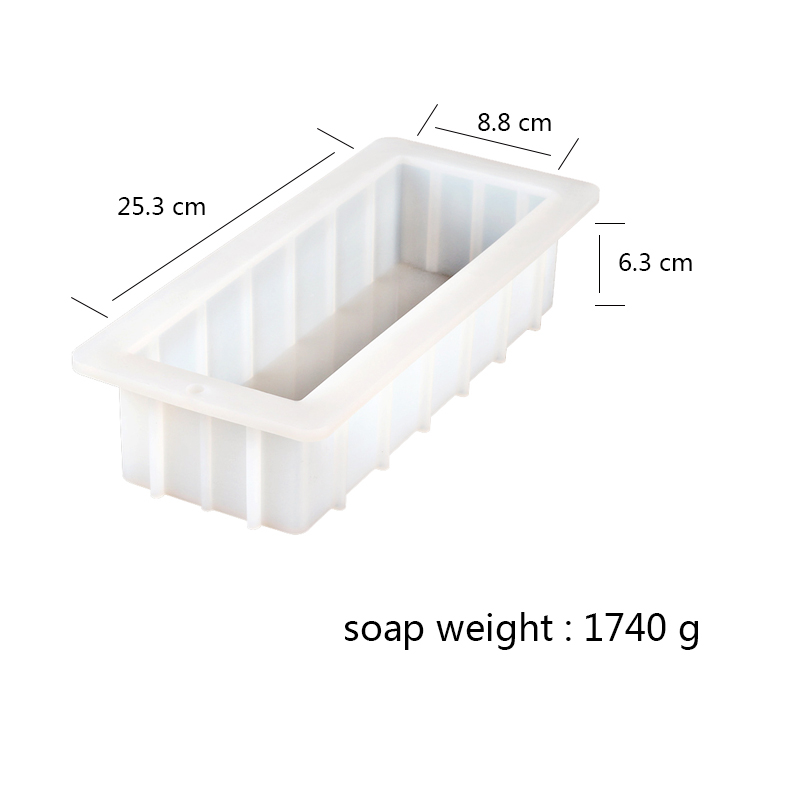 Nicole Rendering Soap Silicone Mold With Transparent Vertical Acrylic Clapboard White Rectangular Mould For DIY Handmade